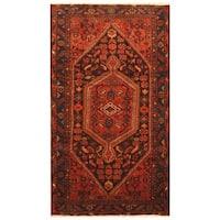 Handmade Herat Oriental Persian Tribal Hamadan Wool Rug (Iran) - 4'4 x 7'9