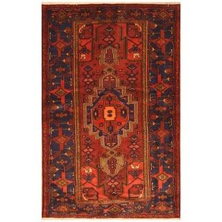 Herat Oriental Persian Hand-knotted Tribal Hamadan Wool Rug (4'7 x 7')