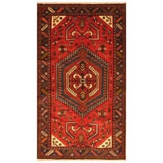 Handmade Herat Oriental Persian Tribal Hamadan Wool Rug - 4'3 x 7'5 (Iran)