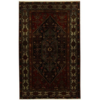 Herat Oriental Persian Hand-knotted Tribal Hamadan Wool Rug (4'9 x 7'6)