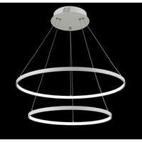 Two-light 40W LED Round Floating Modern Ceiling Light