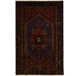 Herat Oriental Persian Hand-knotted Tribal Hamadan Wool Rug (5'4 x 8'1)