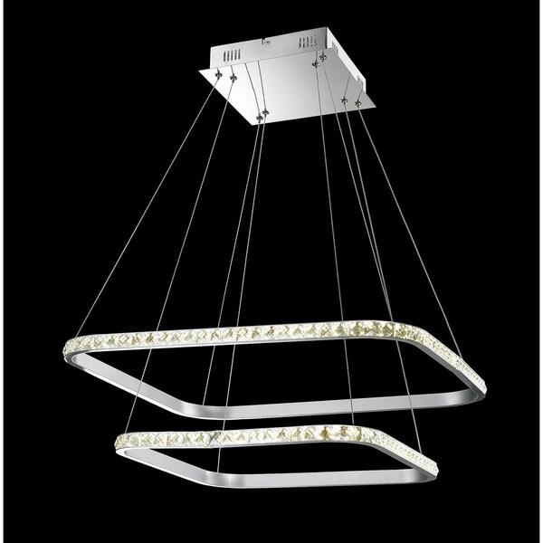Double Floating LED 1-light Chandelier