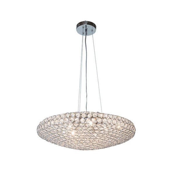 Chrome Crystal Circles Pendant-shaped Petit Chandelier