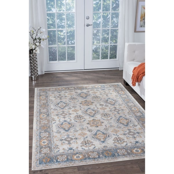 Alise Fairfax Traditional Ivory Area Rug - 9'3 x 12'6