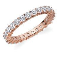 Amore 10K Rose Gold 1.50 CTTW Eternity Shared Prong Diamond Wedding Band
