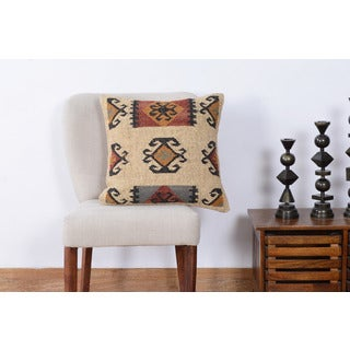 Herat Oriental Handmade Indo Kilim 20'' Throw Pillows (Set of Two)