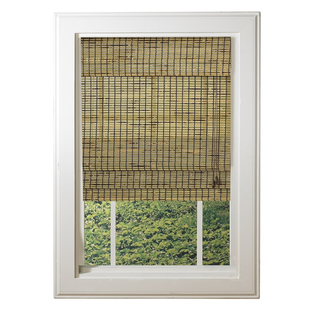 Lewis Hyman Radiance Deluxe Burnt Bamboo Roman Shade, Brown