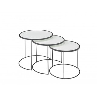 Brassex 3-Piece Nesting Table Set, White