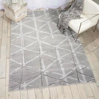 kathy ireland Ingenue Silver Shag Area Rug by Nourison - 7'10 x 9'10