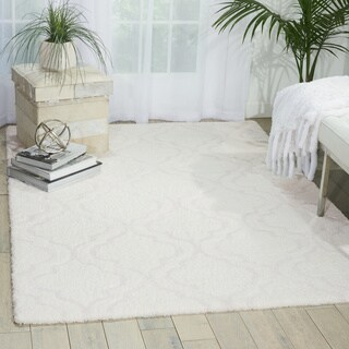kathy ireland Light & Airy White Shag Area Rug (7'6 X9'6) by Nourison