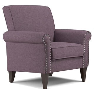 Handy Living Jean Amethyst Purple Linen Arm Chair