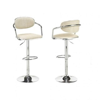Brassex Adj.Bar Stool (Set of 2), Beige