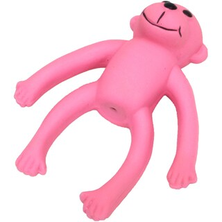 "Rascals 6"" Latex Long Legged Monkey Dog Toy-Pink"
