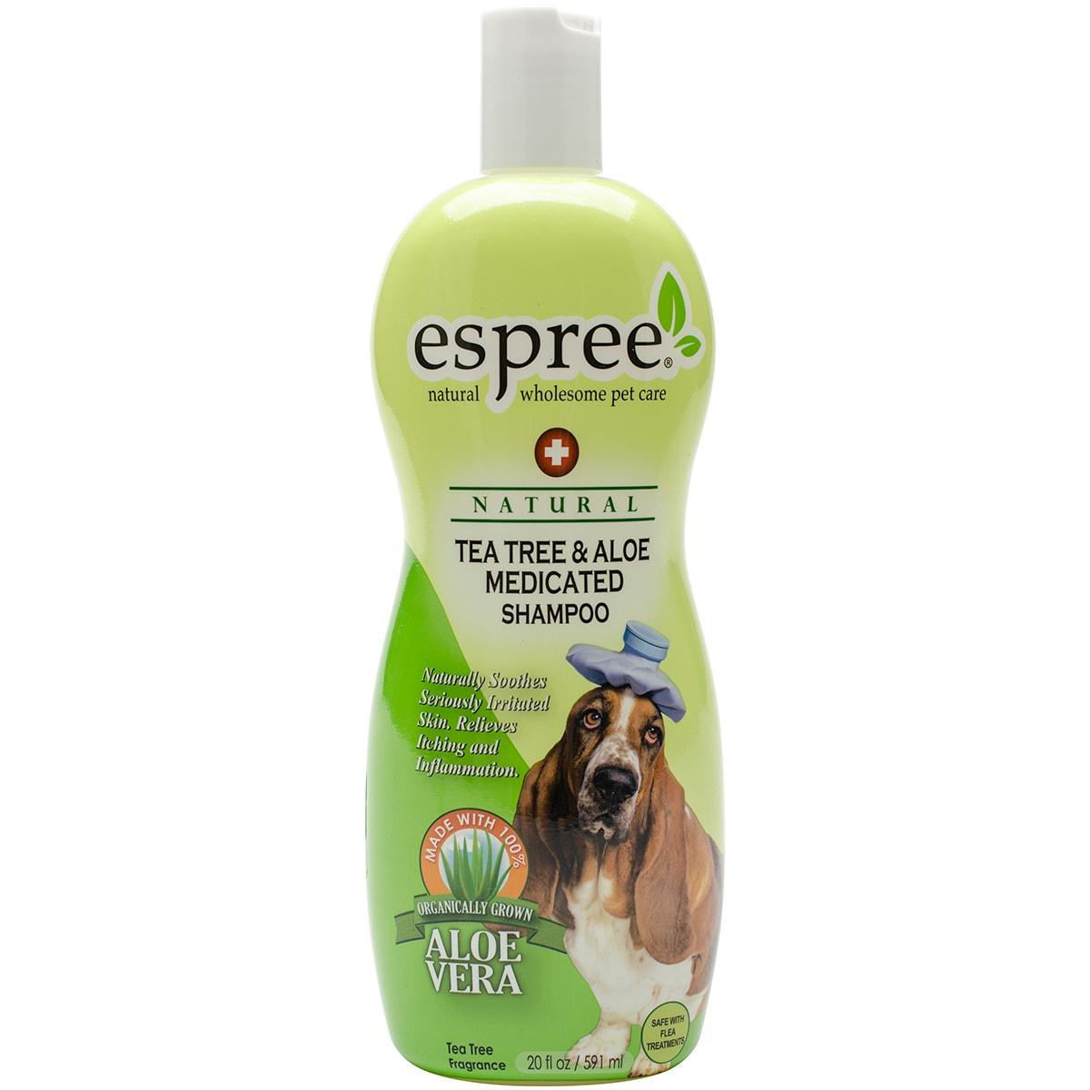Espree Natural Tea Tree & Aloe Medicated Pet Shampoo 20oz...
