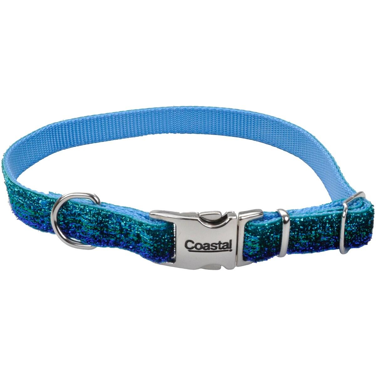 Pet Attire Sparkles Adjustable Dog Collar W/Metal Buckle-5/8, Neck Size 8-12 (Pink)