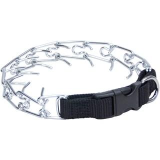 "Titan Easy-On Prong Dog Training Collar W/Buckle-Black/Chrome, Neck Size 14"""