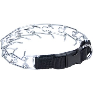 Titan Easy-On Prong Dog Training Collar W/Buckle-Black/Chrome, Neck Size 14""