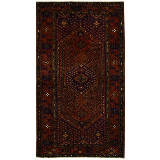 Handmade Herat Oriental Persian Tribal Hamadan Wool Rug - 4'5 x 7'9 (Iran)
