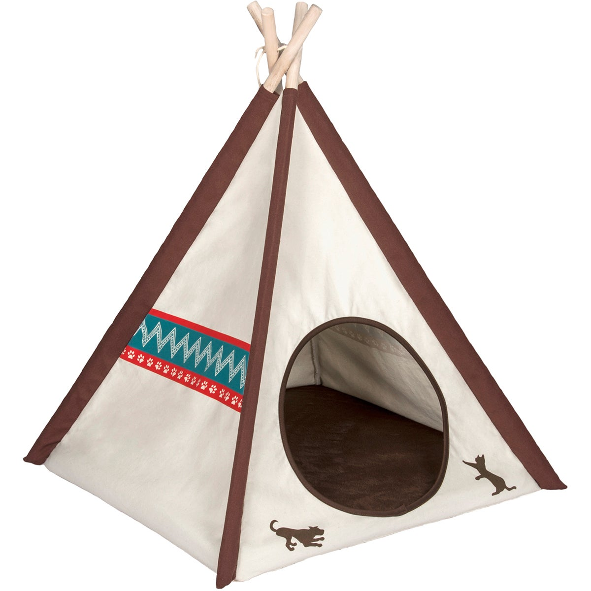 """P.L.A.Y. Teepee Tent (24.8"""" x 24.8"""" x 29.1"""") (Marsala), Red"""