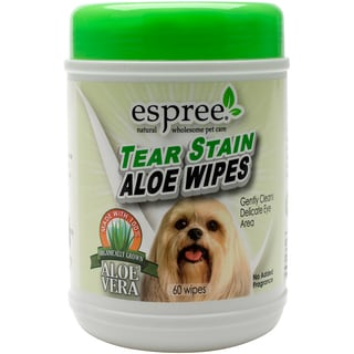 Espree Natural Tear Stain Aloe Wipes (Box of 60)