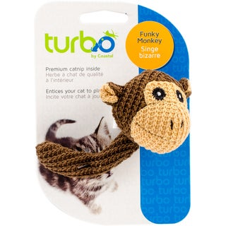 "Turbo Random Fun Cat Toy-Funky Monkey - 4.5"""