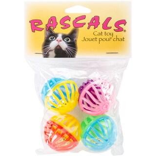 "Rascals 1.5"" Assorted Lattice Balls Cat Toys (Box of 4)"