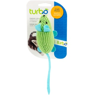 """Turbo Random Fun Cat Toy-Jingle Mouse - 7.75"""""""