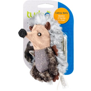 """Turbo Catnip Belly Critters Cat Toy-Hedgehog - 6.5"""""""