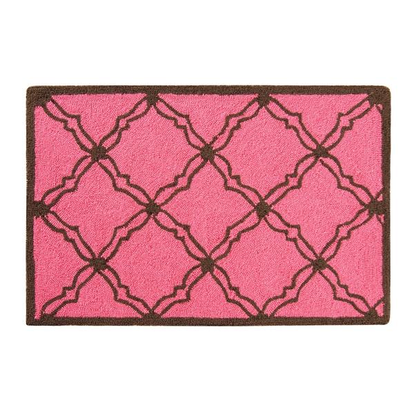 Hooked Kendall Pink Acrylic Rug (2' x 3')