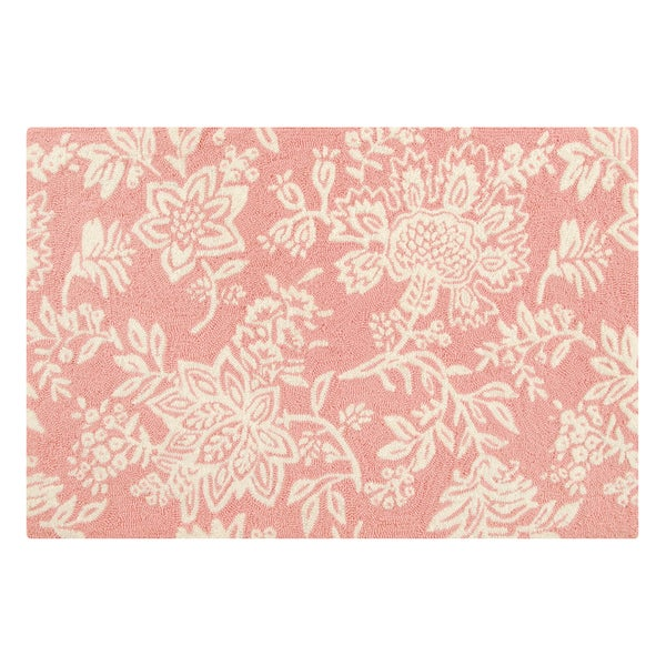 Hooked Shelby Pink Pink Acrylic Rug - 2' x 3'