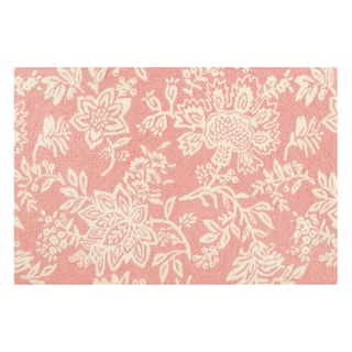 Hooked Shelby Pink Pink Acrylic Rug (2' x 3')