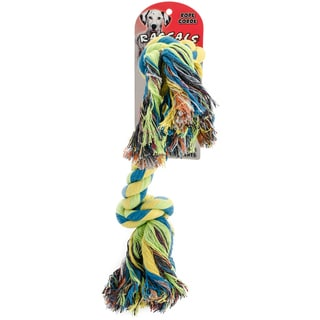 """Rascals 2 Knot 9"""" Rope Tug Dog Toy-Yellow - Extra Large"""