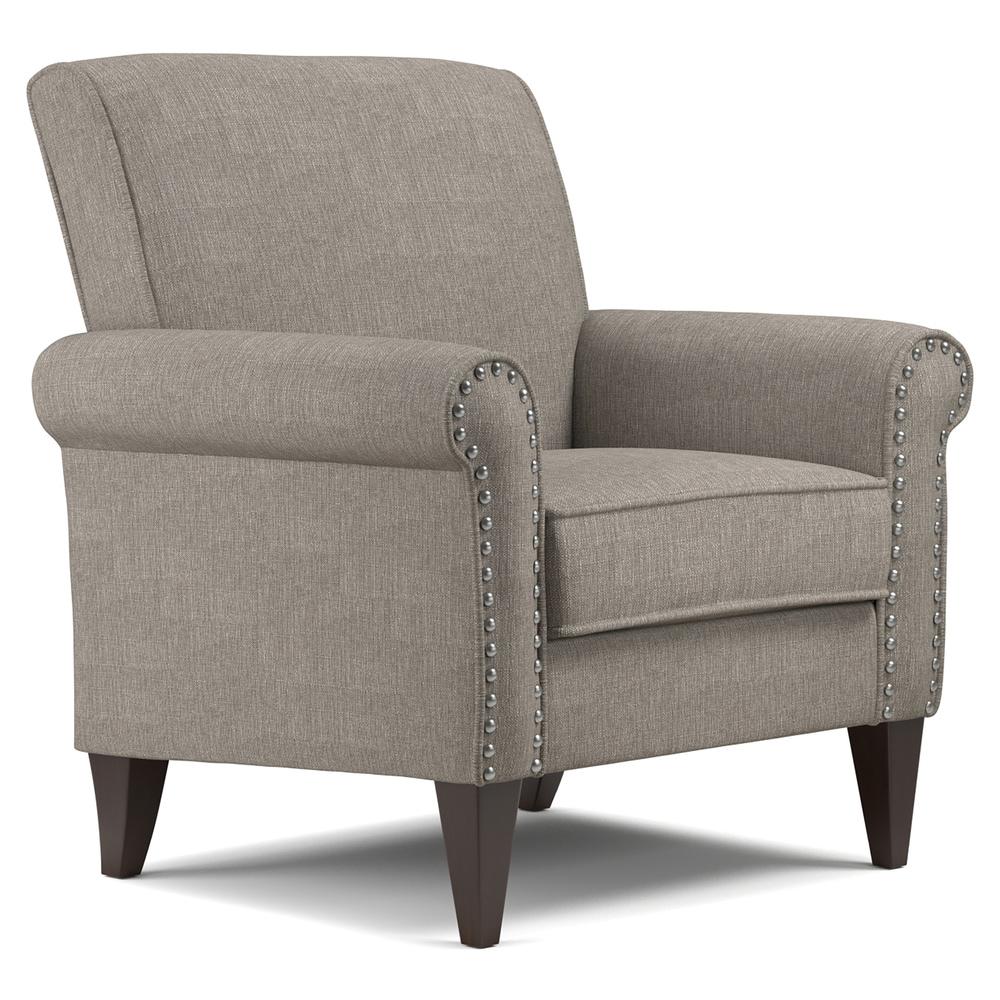 Copper Grove  Herve Dove Grey Linen Arm Chair (Grey)