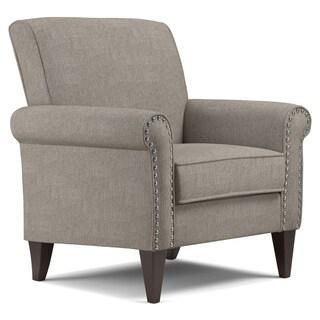 Copper Grove Herve Dove Grey Linen Arm Chair