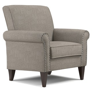 Handy Living Jean Dove Grey Linen Arm Chair