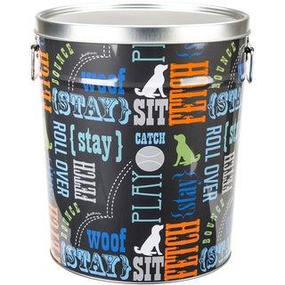 """Tin Pet Food Container (10.25 x 10.25"""" x 11.88)"""