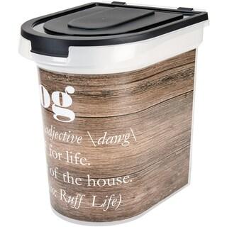 """Plastic Rolling Pet Food Bin (15.5 x 13.25"""" x 16.75)"""
