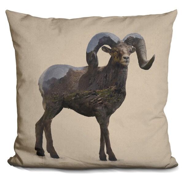 Davies Babies 'Rocky Mountain Bighorn Sheep' Throw Pillow