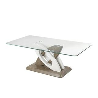 Brassex Donatello Brown Glass Sofa Table