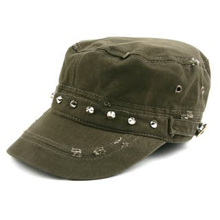 Pop Fashionwear 100% cotton Army-Inspired Cadet Hat https://ak1.ostkcdn.com/images/products/16280125/P22643279.jpg?impolicy=medium