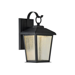 Chloe Kirton Collection 1-light Textured Black Outdoor LED Wall Lantern