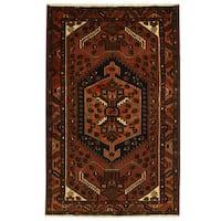 Herat Oriental Persian Hand-knotted Tribal Hamadan Wool Rug (4'4 x 6'9)