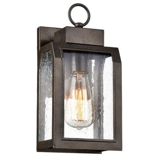 Chloe Milton Collection 1-light Antique Gold Outdoor Wall Lantern