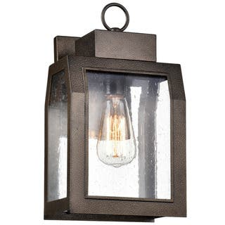 Chloe Milton Collection 1-light Antique Gold Outdoor Wall Lantern|https://ak1.ostkcdn.com/images/products/16280157/P22643274.jpg?impolicy=medium