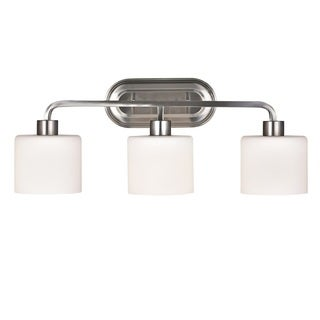 Chloe Leia Collection 3-light Brushed Nickel Bath/Vanity Light