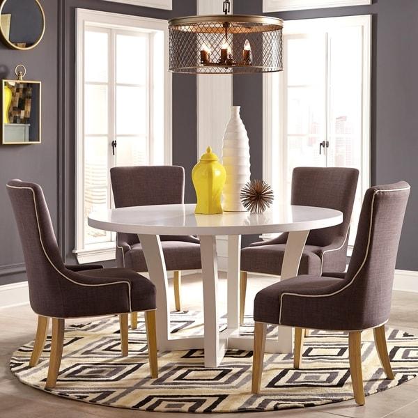 elegant design 5piece round dining set  overstock  16280184