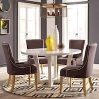 Elegant Design 5-piece Round Dining Set
