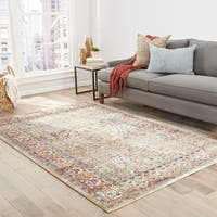 Maison Rouge Andersen Floral Taupe/ Mauve Area Rug (9' x 12')