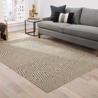 Lacuna Handmade Geometric Tan/ Dark Grey Area Rug (9' x 12')|https://ak1.ostkcdn.com/images/products/16280272/P22643402.jpg?impolicy=medium